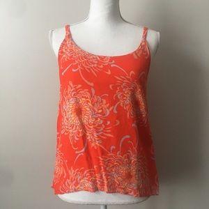 CAbi Orange Floral Tank Top